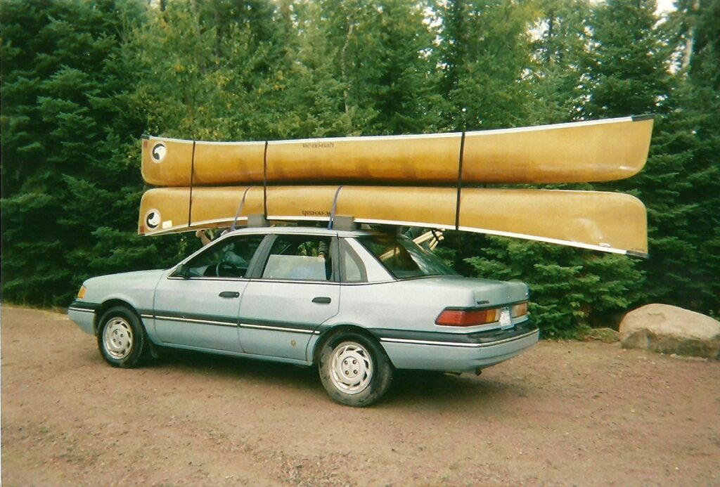How to Tie a Canoe to a Car Without a Rack