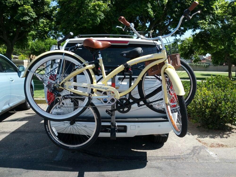 How to Put a Women's Bike on a Bike Rack